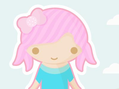 Kya 可爱呆萌的矢量小插图