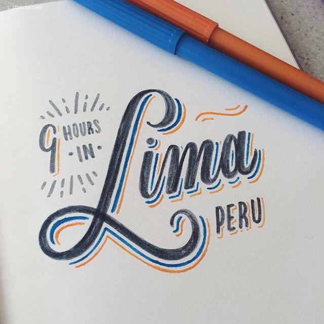 Lauren Hom 手写花体字设计欣赏