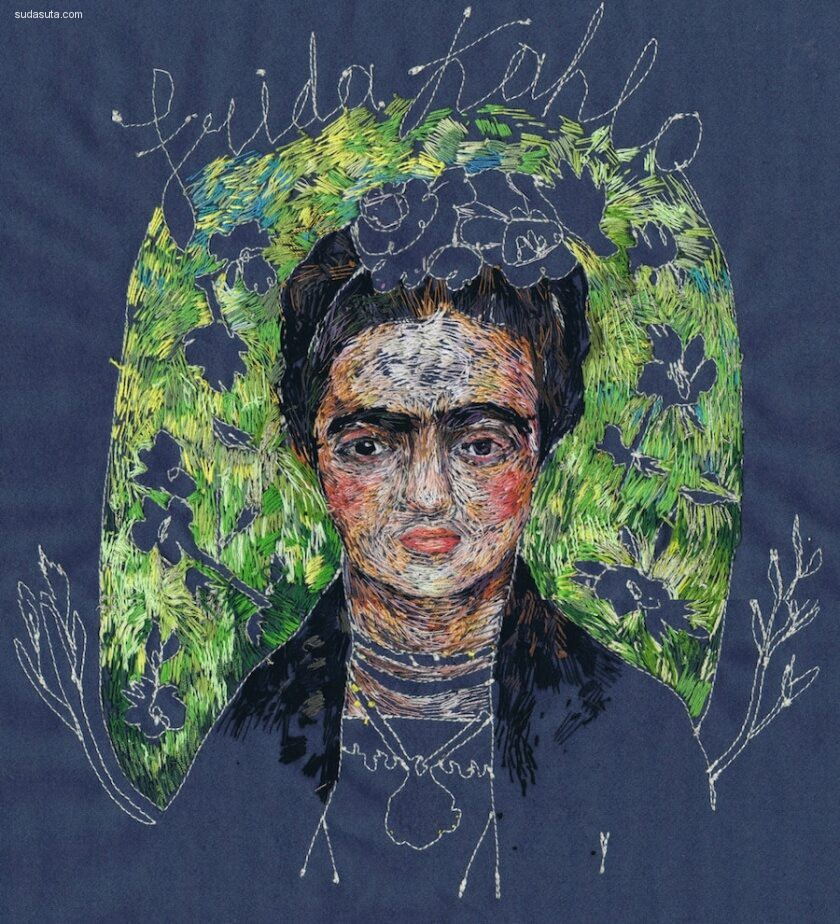 Lisa Smirnova 富于创意的刺绣绘画