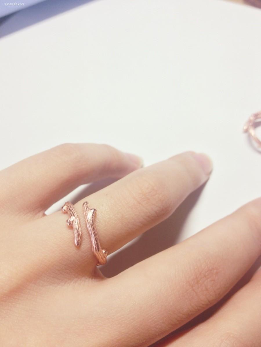 MOSSOVY品牌 原创设计精工树枝戒指