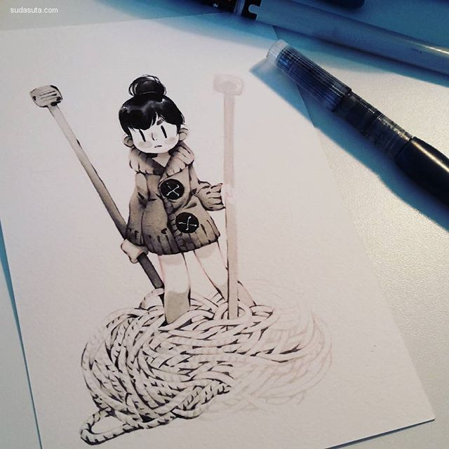Mini Ludvin 手绘卡通造型设计