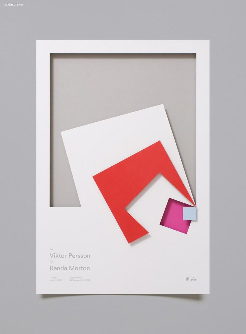 Moniker 剪纸海报排版设计欣赏