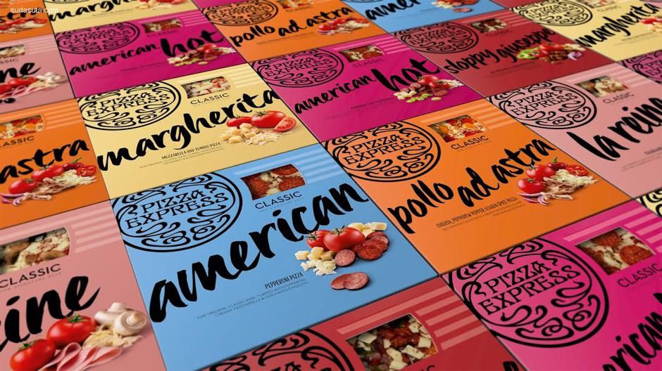 PizzaExpress 包装设计欣赏