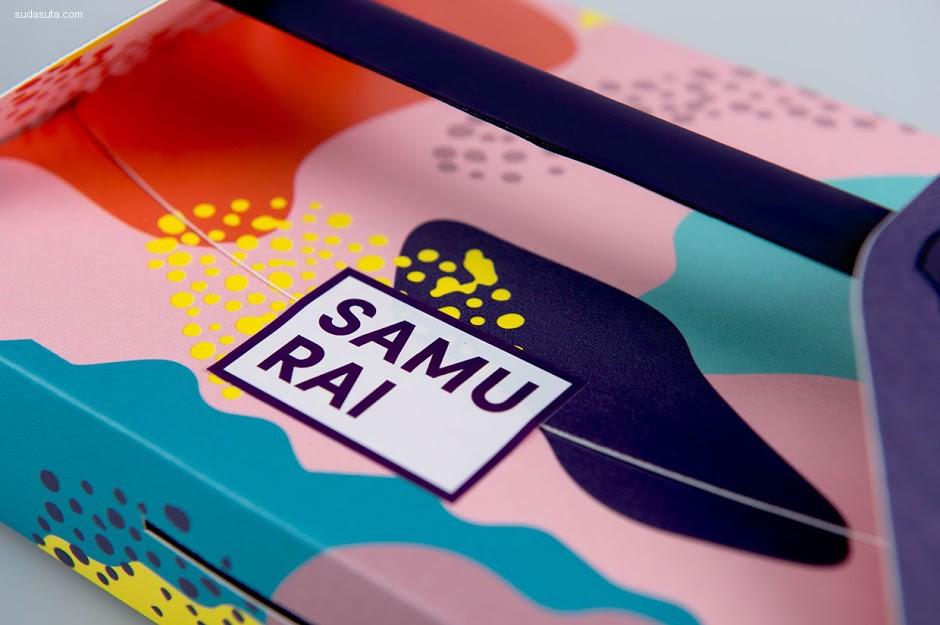 日本寿司店Samurai 品牌设计欣赏