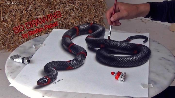 Stefan Pabst 难以置信的3D艺术绘画