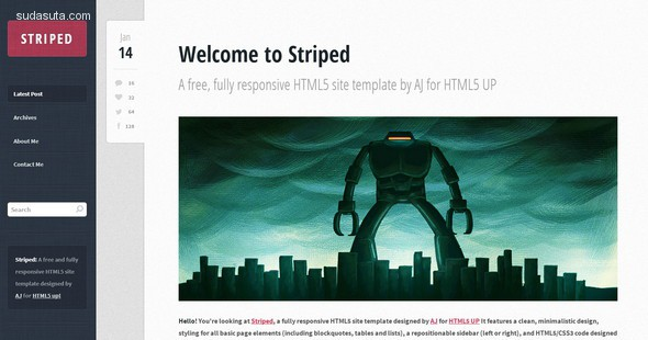 55个免费的响应式HTML5/CSS3网站模板下载