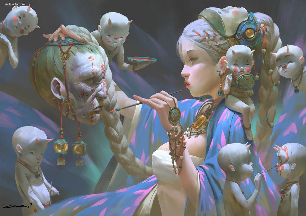 Zeen Chin 概念插画欣赏
