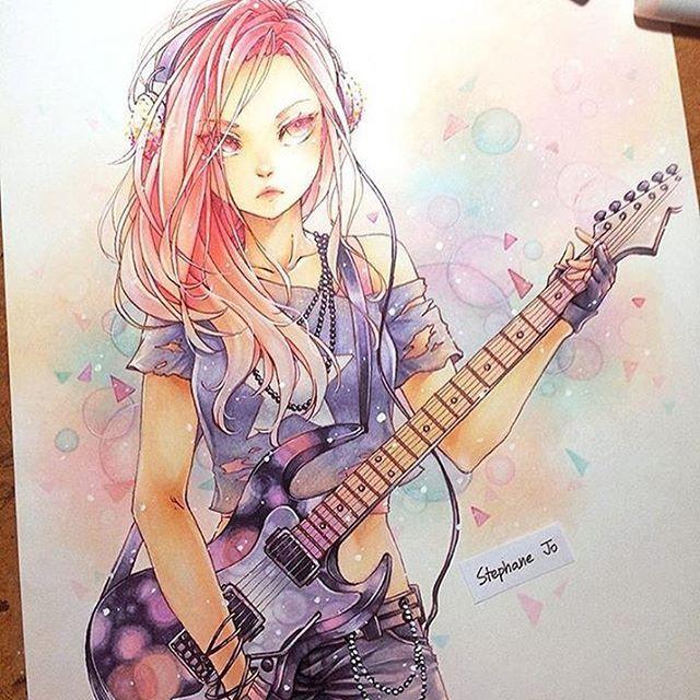 chiaki_art 手绘美少女漫画