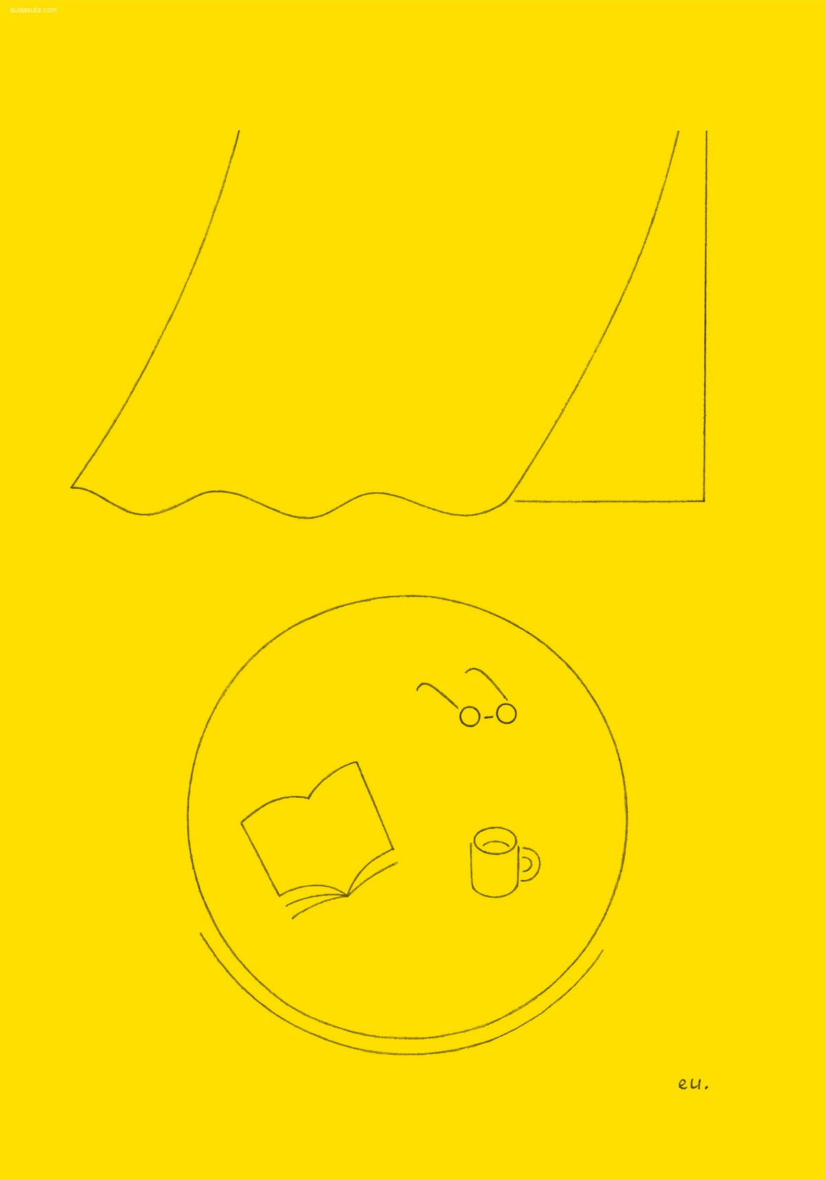 Emi Ueoka 极简主义线条插画