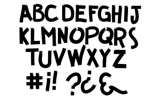26个免费的实验性英文字体下载