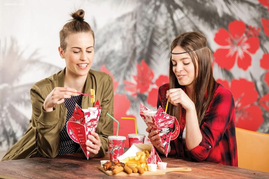 快餐品牌 Surf'n'fries 包装设计欣赏