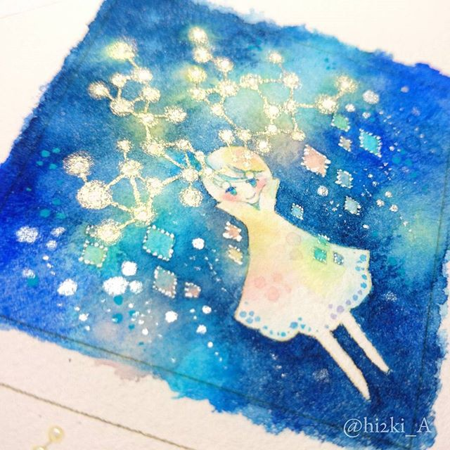 Hidzuki Kaoru 梦幻般的水彩插画欣赏