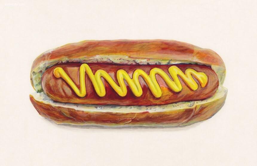 Joël Penkman 超现实主义手绘美食插画