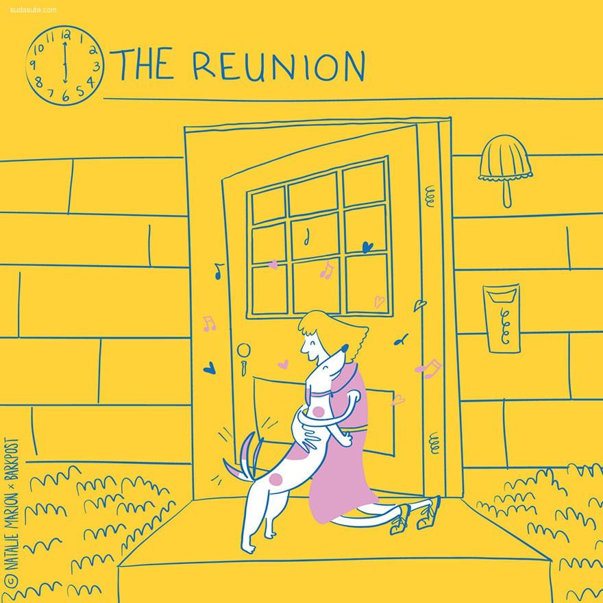 Natalie Marion 汪星人的一天 卡通漫画欣赏