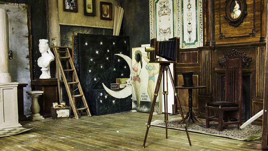 Ali Alamedy 手工还原1900年的室内设计