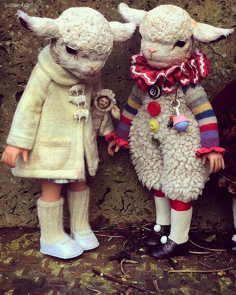 Annie Montgomerie 的幻想世界 可爱的动物娃娃
