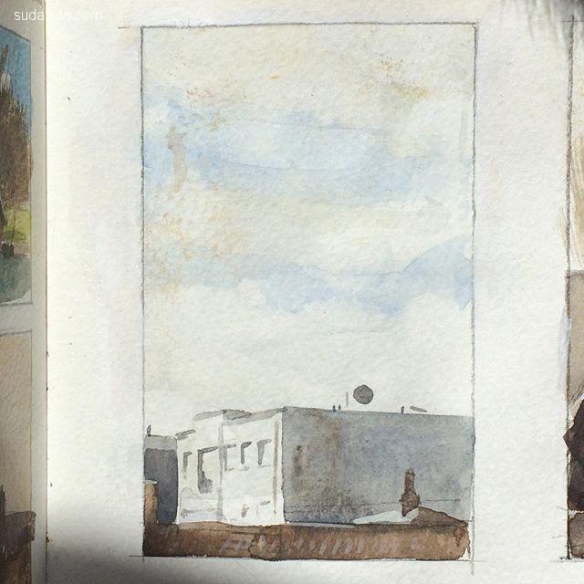 Benjamin Mills 手绘水彩涂鸦本子