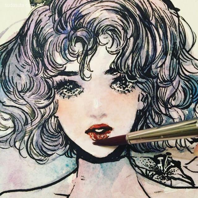Connie 少女漫画的速写本子