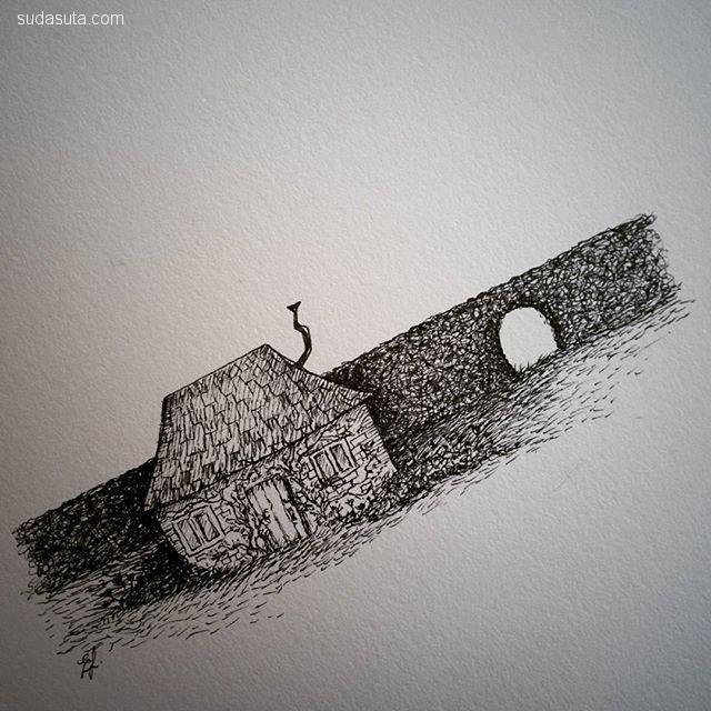 Elisa Joest 干净的手绘草图