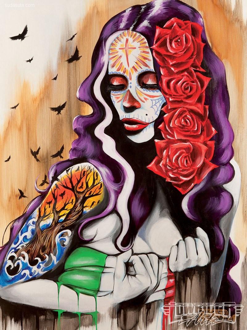 Gustavo Rimada 骷髅与少女