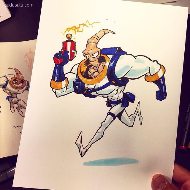 Jake Parker 手绘卡通本子