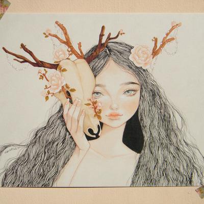 Karla Rodriguez 唯美清新的手绘插画欣赏