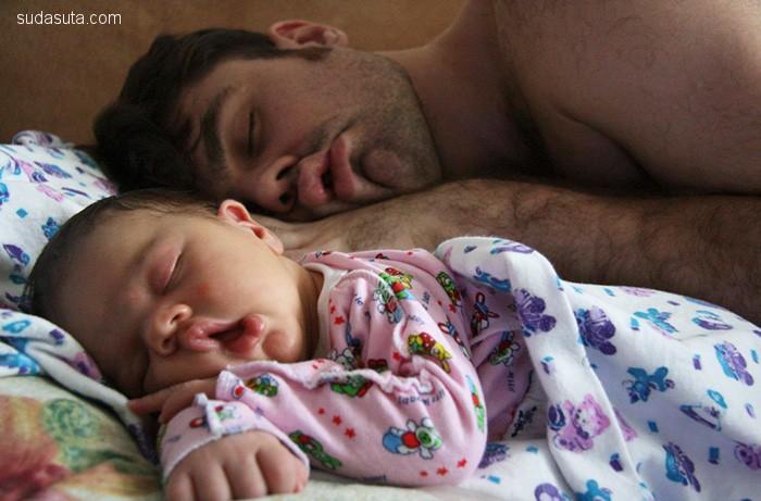 父亲与孩子 暖暖人心