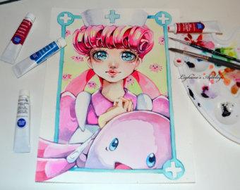 Lisa 清新可爱的手绘少女漫画