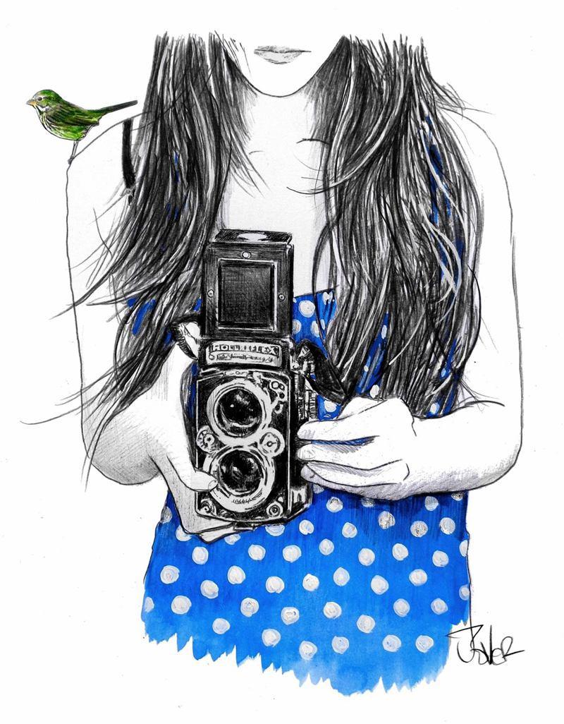 Loui Jover 女生与蓝鸟