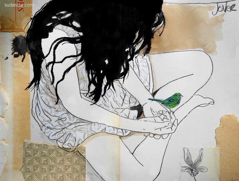 Loui Jover 混合艺术欣赏