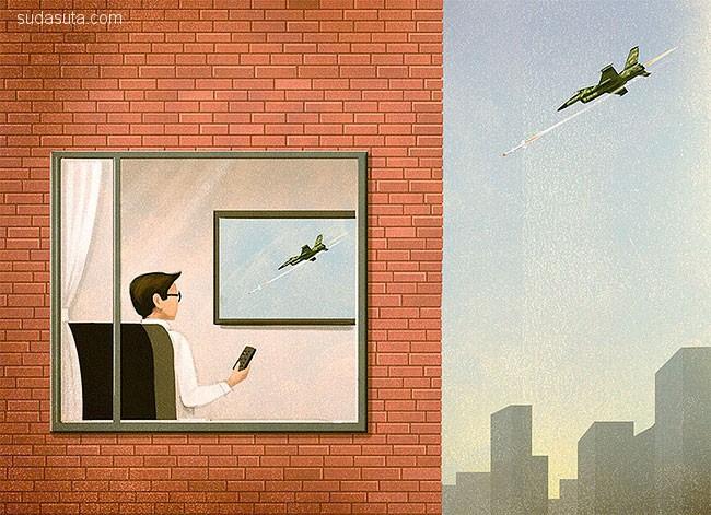 Marco Melgrati 讽刺插画欣赏