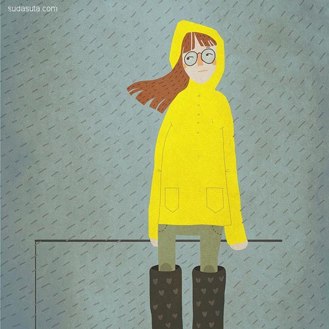 Maria Lovell 幽默可爱的小插画