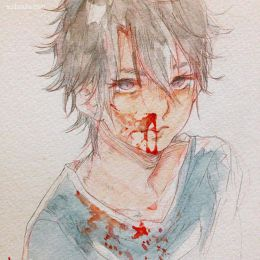Meeda Mohsin 血与少年 二次元漫画涂鸦