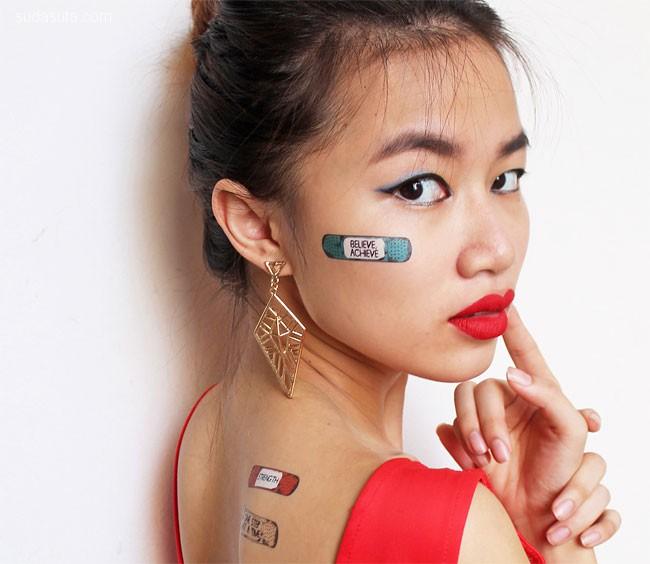 创可贴样的创意纹身设计欣赏
