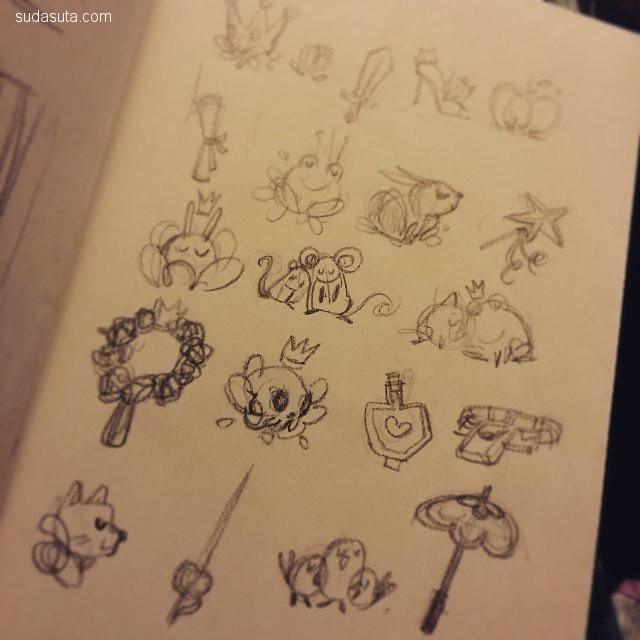 Nneka Myers 的手绘草图本子