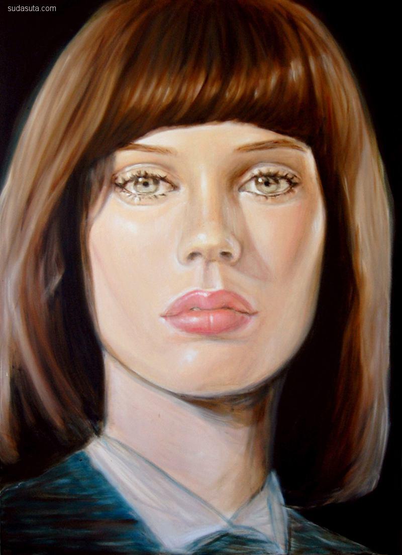 伦敦艺术家Sarah McGinity 人像插画欣赏