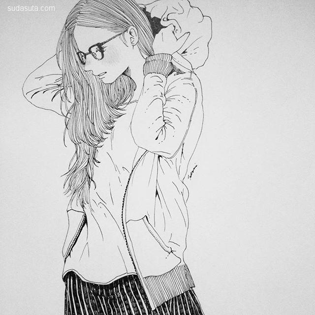 Satomi 清新可爱的人物速写