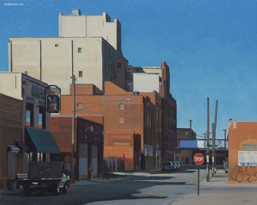 Stephen Magsig 超现实主义城市绘画欣赏
