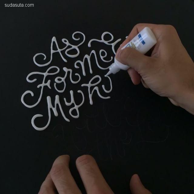 TYPOxPHOTO 优雅迷人的手写花体字