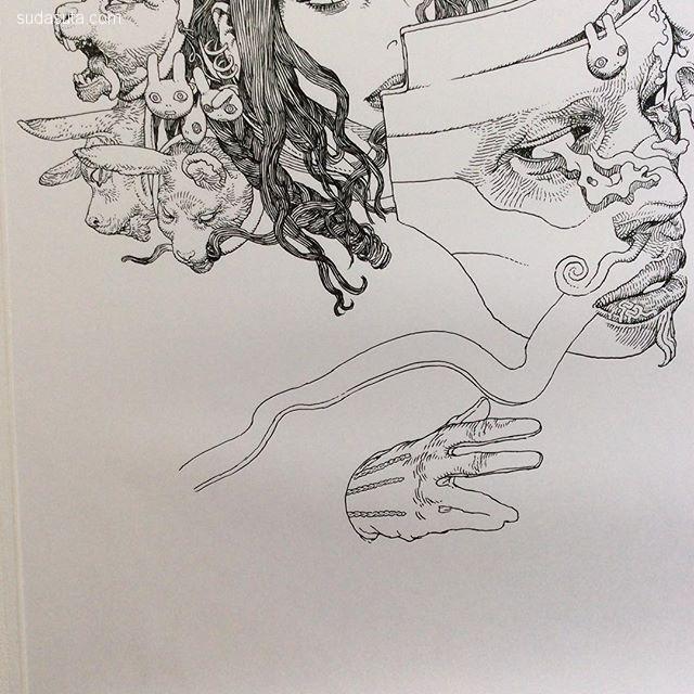 Terada Katsuya 鬼怪插画