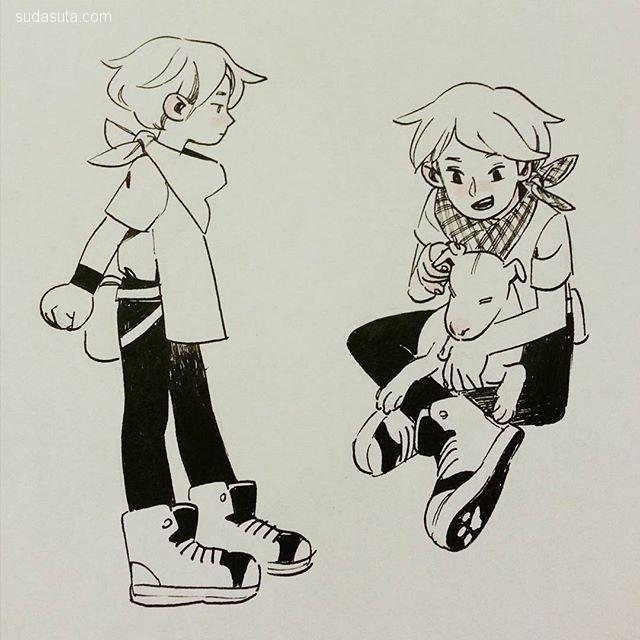 插画,包括一些卡通人物造型设计,表情设计,卡通速写,水彩手绘等图片