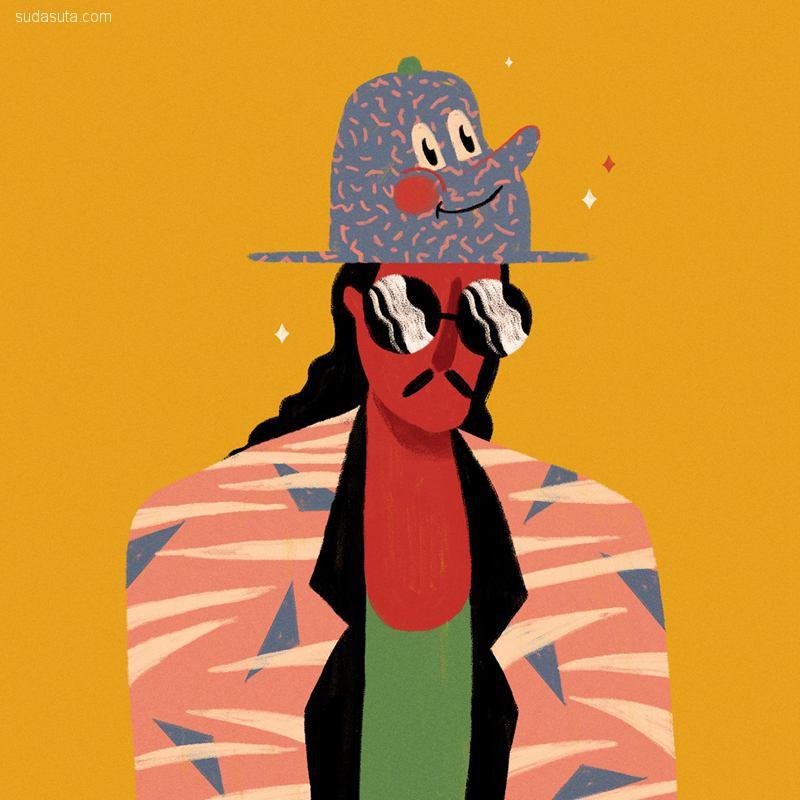 Willian Santiago 温馨浪漫的装饰插画