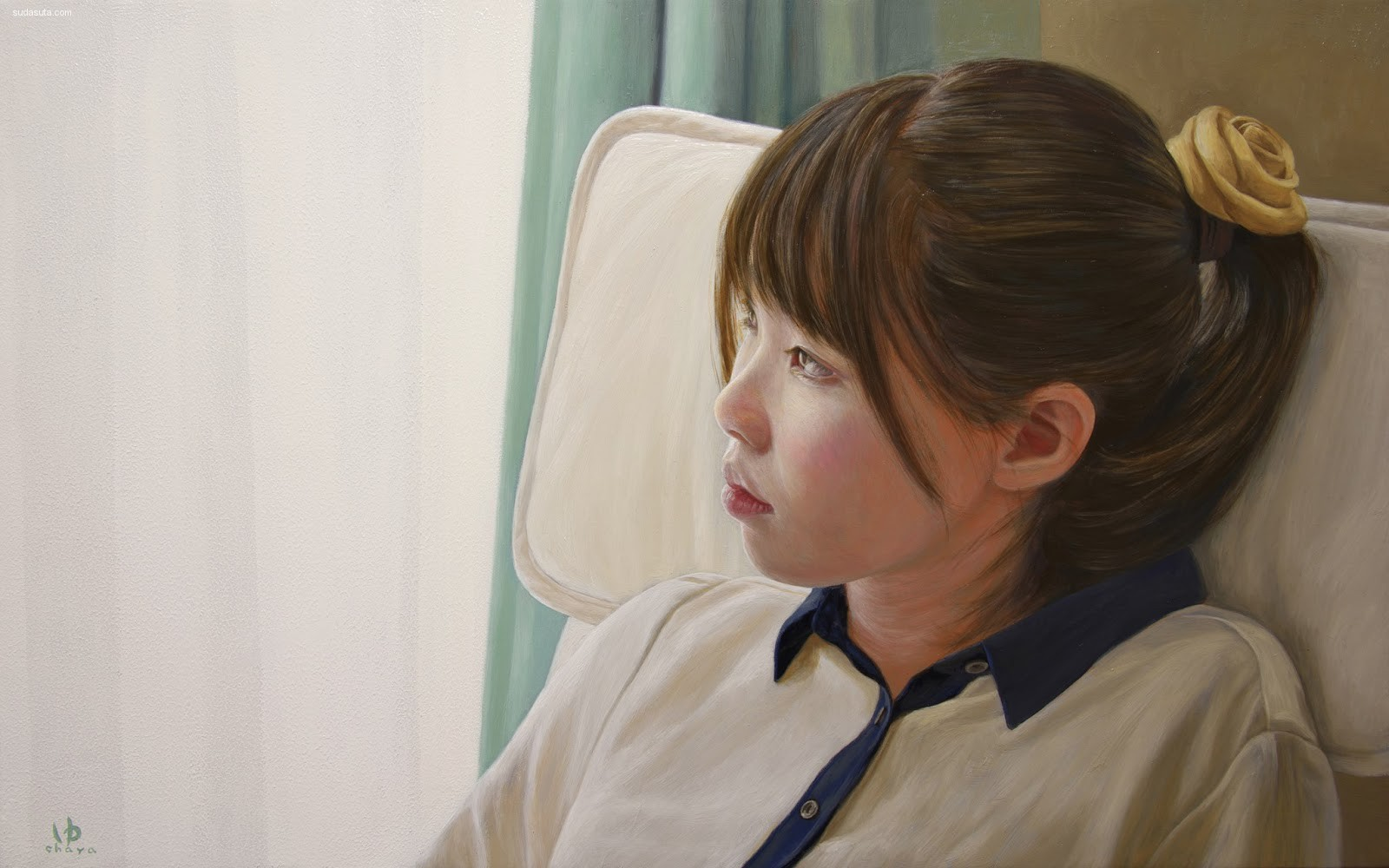 茶谷雄司/Yuji Chaya 人像绘画作品欣赏