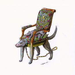 插画家 Raul Lamarca 奇怪的椅子