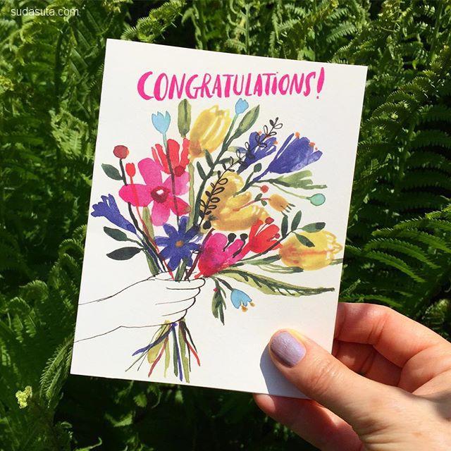Carolyn Gavin 手绘的花 装饰插画欣赏