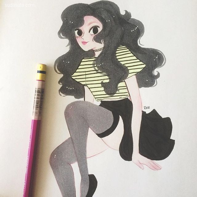 Ree 时尚手绘插画