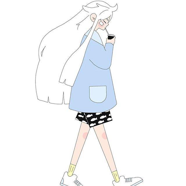 sarah lasater 简约可爱的少女漫画