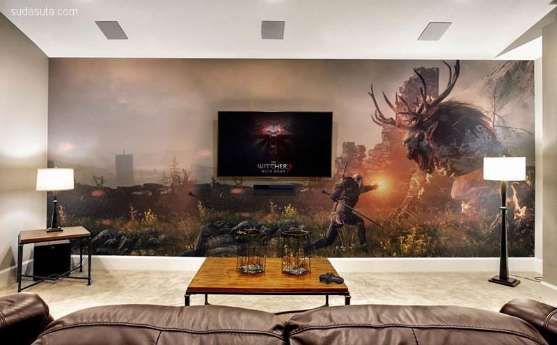 史诗级的游戏屋 室内装修设计欣赏