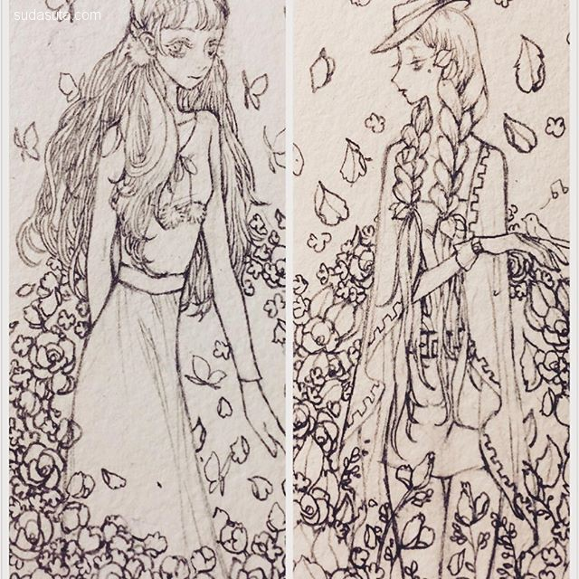 xinghuo.Ar 繁复奢华的手绘本子