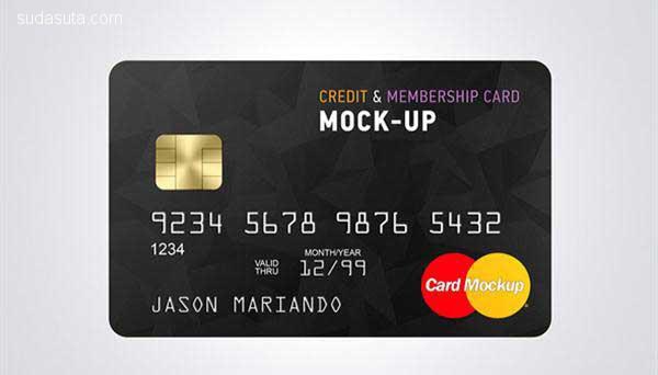 20个免费的信用卡PSD模板下载